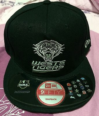 New 9Fifty NRL West Tigers Snapback Cap - Black/Silver