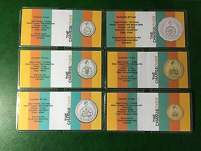 2016 Complete Set Of Six Changeover Flips, High Quality Customs (no Coins)...