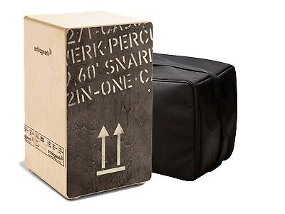 Cajon Schlagwerk 2inOne CP404BLK Large Black Edition Percussion wie NEU
