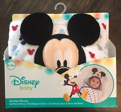 Disney Baby Mickey Mouse Hooded Bath Wrap Towel
