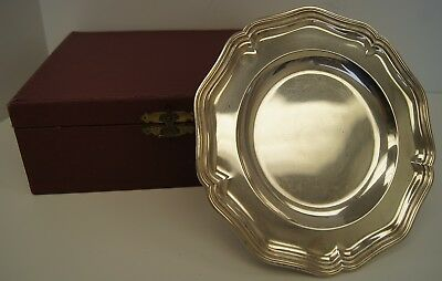 Cartier Sterling Silver Pedestal Tray With Original Box. (A3892)