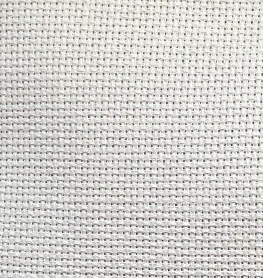 White 14 Count Aida Cross Stitch  Fabric 100% Cotton All Sizes