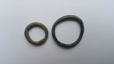 Rare Ancient Group of Celtic Bronze Proto-Money Rings Set 2