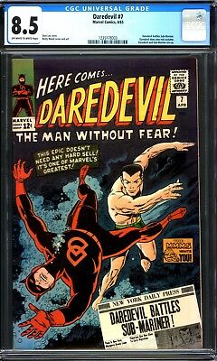 Daredevil #7 Cgc 8.5 Ow/w Pages 1965 1St Red Costume