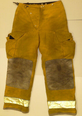 34x32 Globe Fire Wear Yellow Firefighter Pants Bunker Turnout  P874