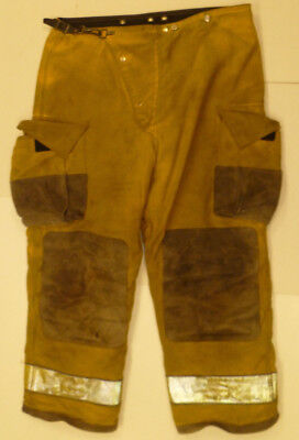 34x30 Globe Fire Wear Yellow Firefighter Pants Bunker Turnout  P877