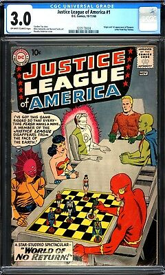 Justice League #1 Cgc 3.0 Ow/w Pages 1960