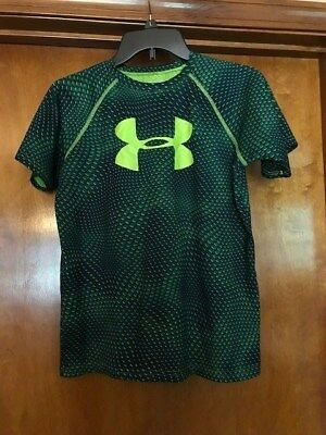 Under Armour Heatgear Boy's T-Shirt Size Youth Large Loose Green FAST SHIPPING