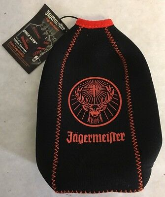 New Jagermeister Stag Logo 750 ML Bottle Stay Cool Pack Cooler Koozie Black NWT