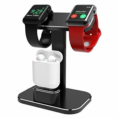 2 In 1 Apple Watch Stand Dual Head iWatch Charging Dock Station Stand Holder