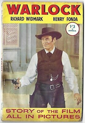 """1959. """"WARLOCK"""" Film Picture Library Comic #1. Western. Cowboy"""