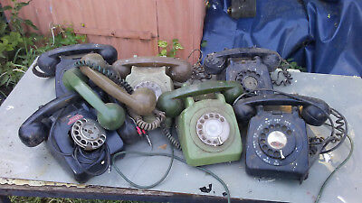 GPO telephones, plastic, several needs TLC, to clear.