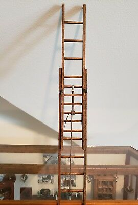 Dollhouse Miniature Brilliant Working Extension Ladder