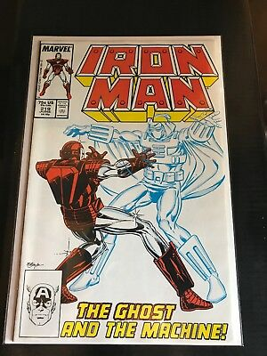 IRON MAN #219 (1987)-NM- 1st GHOST (ANT-MAN & WASP MOVIE) *Near Mint condition**