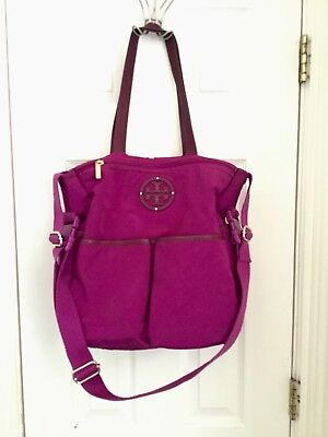 TORY BURCH  Nylon Travel Dena Baby Diaper Bag Tote Pink Retails $395
