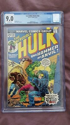 Incredible Hulk # 182 Cgc 9.0 ***3Rd Appearance Of Wolverine*** Marvel 1974