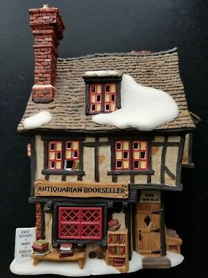 "Department 56 Dickens' Village ""Antiquarian Bookseller"" #58508 Retired 2004 New"