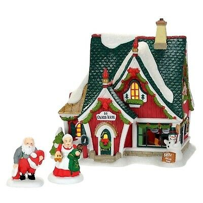 Dept 56 North Pole Village Home For The Holidays 3 Piece Set 4059382 No Box