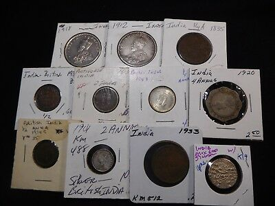 K14 India Mixed Group w/ Silver 11 pcs Total