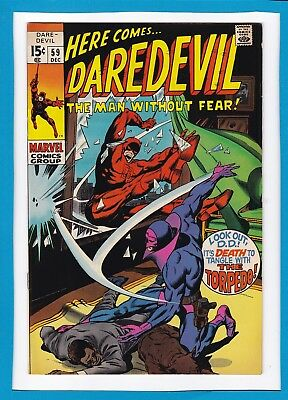 """Daredevil #59_December 1969_Very Fine_""""don't Tangle With The Torpedo""""_Silver Age"""