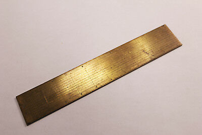 Brass Protractor / Ruler, late 1800's