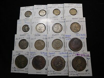 K22 Panama Silver 0.900 Fine Mixed Group 16 pcs Total