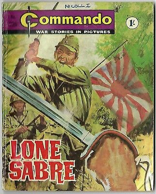 "Dated 1966. Vintage COMMANDO War Picture Comic # 226. ""Lone Sabre"""