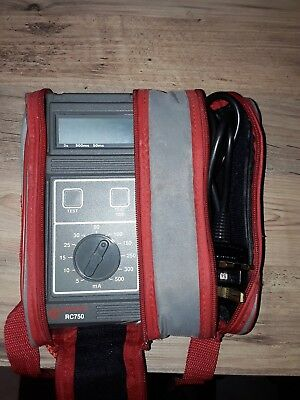 Seaward RCD tester RC750 with case. Good Condition