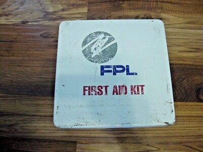 Florida Power & Light FPL North First Aid Kit Full Bandages Cold Paks Breather