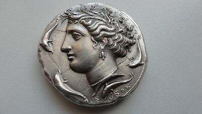 Repro Ancient Greek Coin DECADRACHM SYRACOSE Silver 999 Free Shipping