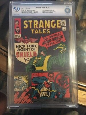 Strange Tales 135 CBCS 5.0 White Not CGC 1st App. Nick Fury SHIELD Hydra