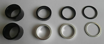 "Alloy 1 1.8"" Bike Headset spacers - Silver or Black, 2mm, 5mm, 10mm or 20 mm"