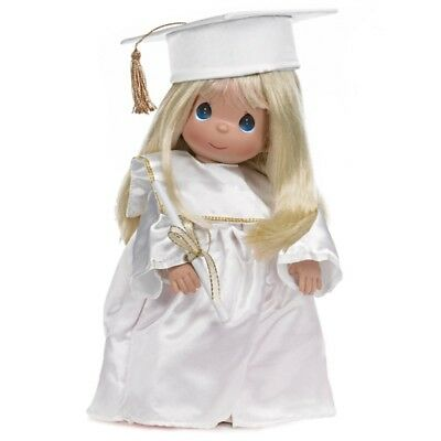 Precious Moments 12 Inch Doll in Cap and Gown, 'Graduation', Blonde, New, 4280