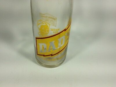 "VTG DAD's Family root beer ""MAMA"" size rare clear pop bottle"