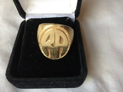 """Heavy Men's 14K Yellow Gold Ring With The Initials """"RA"""" Weighs 21.38 Grams"""