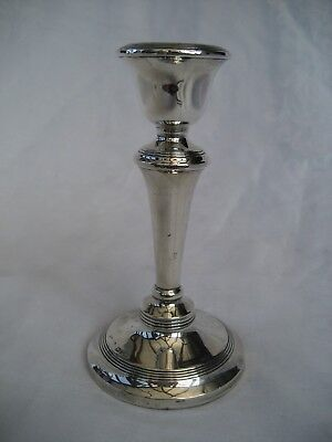 SOLID SILVER CANDLESTICK - Chester, 1912