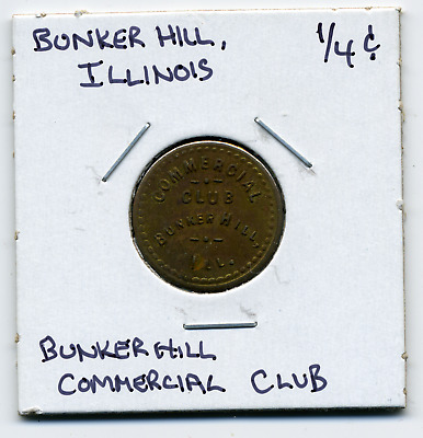 Bunker Hill Illinois Local 1/4c Sales Tax Token IL-L6 R4