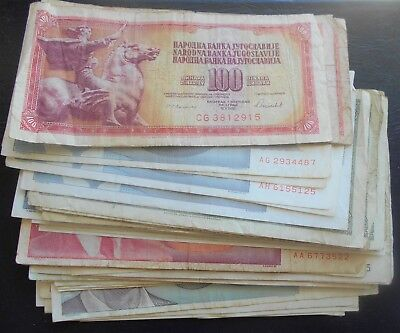 Lot (51) Yugoslavia 100 - 500 Million Dinara Banknotes Many Types Nice Circ #215