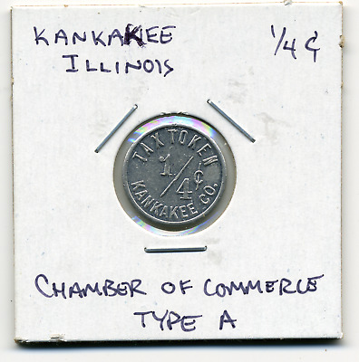 Kankakee Illinois Local 1/4c Sales Tax Token IL-L49A R4