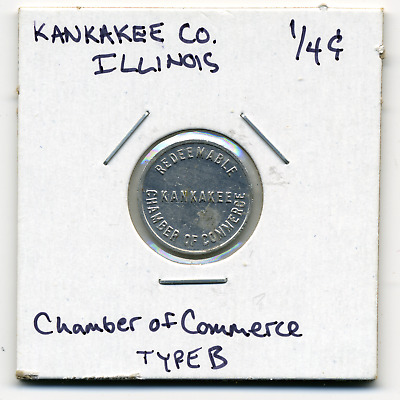 Kankakee Illinois Local 1/4c Sales Tax Token IL-L49B R4