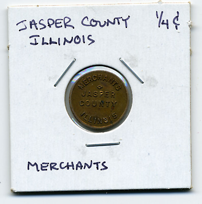 Jasper Illinois Merchants Local 1/4c Sales Tax Token IL-L47 R5