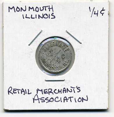 Monmouth Illinois Local 1/4c Sales Tax Token IL L-65