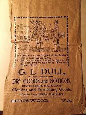 G.L. Dull Spotswood Virginia Dry Goods Clothing Boots Shoes Augusta County