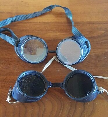 Vintage Welding Motorcycle Steampunk Goggles Safety Glasses Wilson Wellsworth