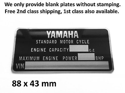 Yamaha VIN Data Plate New Replacement Part Chassis/Frame ID Tag