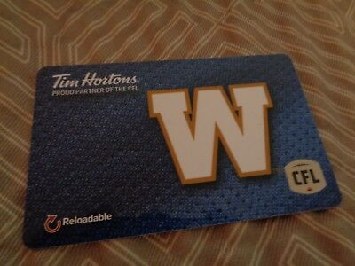 Tim Horton's -  WINNIPEG BLUE BOMBERS - Gift Card - 2018 - FD-61806