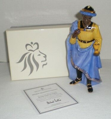 Royal Doulton Holiday Traditions Nativity Porcelain Balthazar Figurine with Box