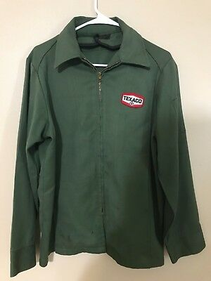 TEXACO Vintage 1970's Unitog Jacket L Large to XL Cars Racing Oil Gas