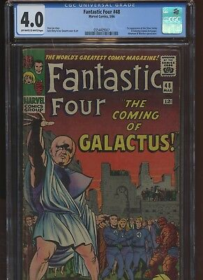 Fantastic Four 48 CGC 4.0 | MArvel 1966 | 1st Silver Surfer. 1st Galactus Cameo.
