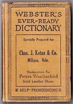 Chas. J. Kotas & Co. - 1926 PETERS WEATHERBIRD SHOES - Webster's Dictionary
